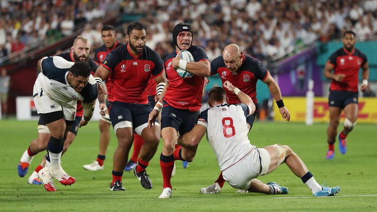 The US men's team lost 45-7 to England at last year's World Cup