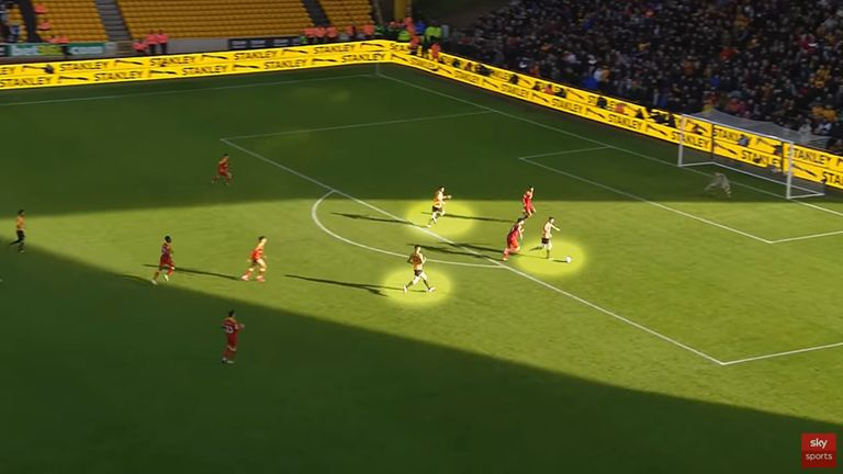 Wolves' goal on the counter-attack in their recent win over Norwich
