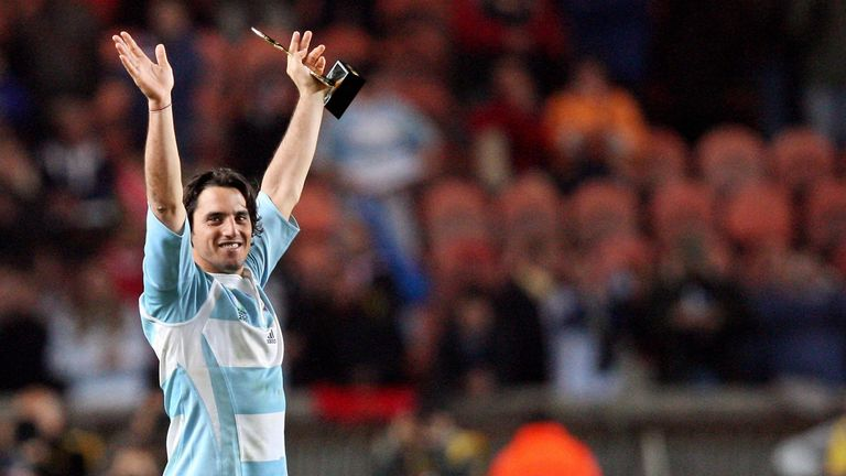 Pichot's final game for Argentina was leading them to third place in the 2007 World Cup A