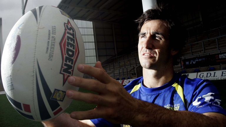 Andrew Johns created a stir in Super League when he joined Warrington 15 years ago