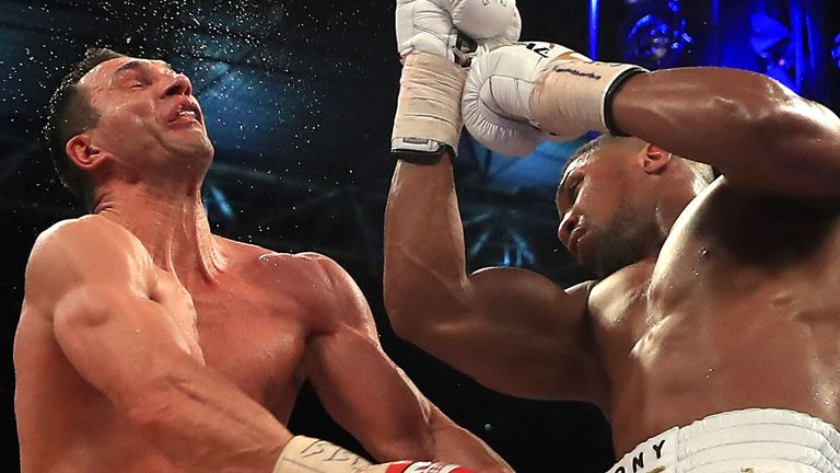 Joshua beat Klitschko in the 11th round