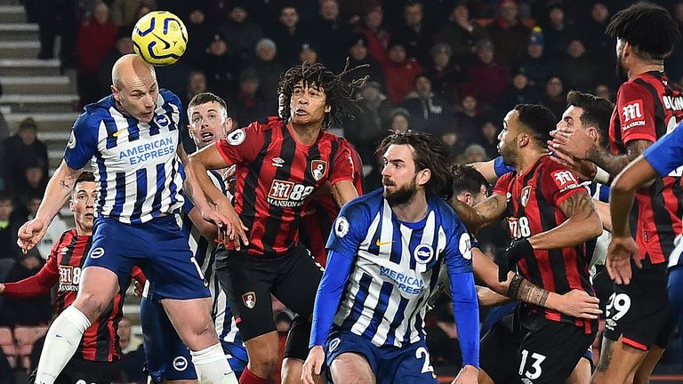 Brighton are two points above the relegation zone, with Bournemouth occupying 18th place