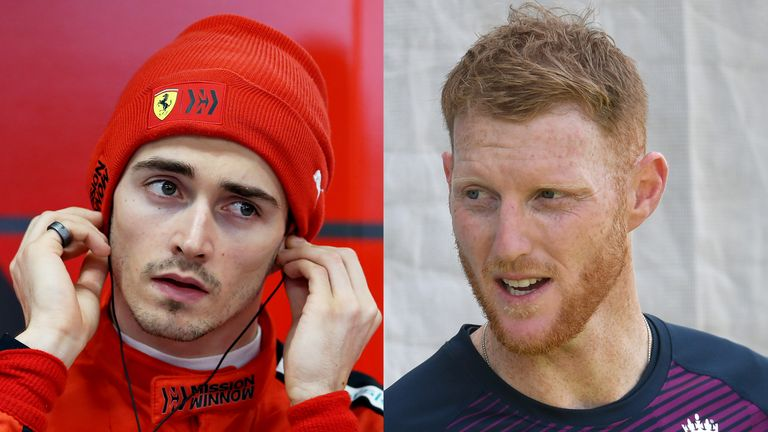 Charles Leclerc and Ben Stokes will take part in a virtual GP