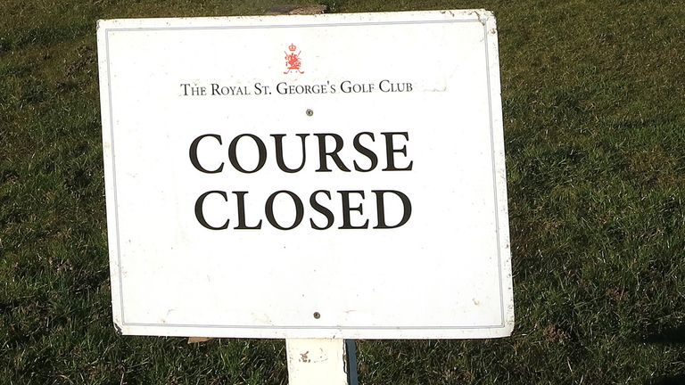 The Open, due to be held at Royal St Georges in Kent, is among the golf events cancelled
