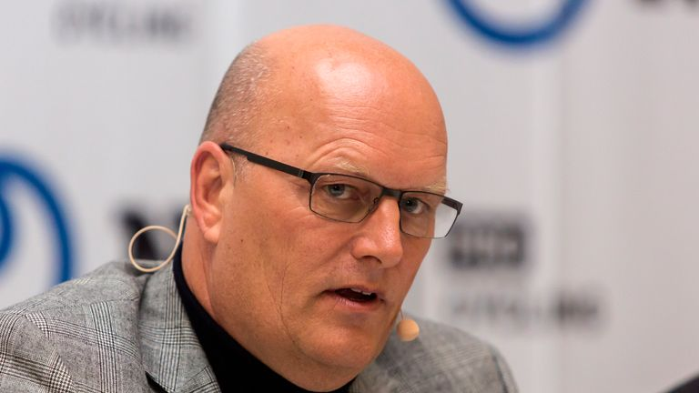 Bjarne Riis is the team manager of NTT Pro Cycling