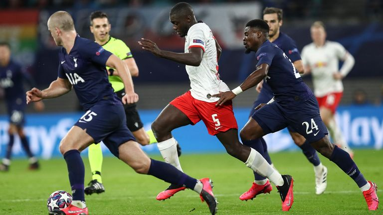 Dayot Upamecano impressed against Tottenham in the Champions League earlier this season