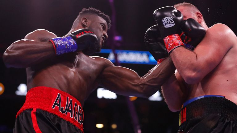Ajagba has stopped all-but-one of his opponents