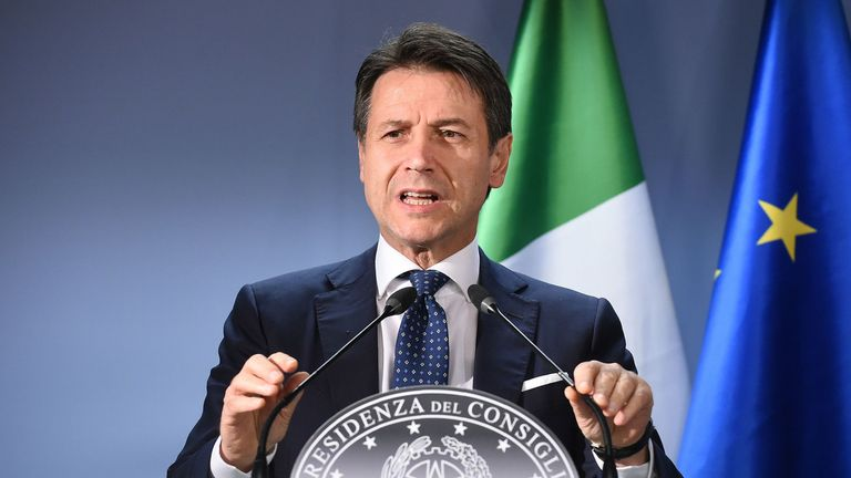 Italian Prime Minister Giuseppe Conte has outlined when sportspeople can resume training