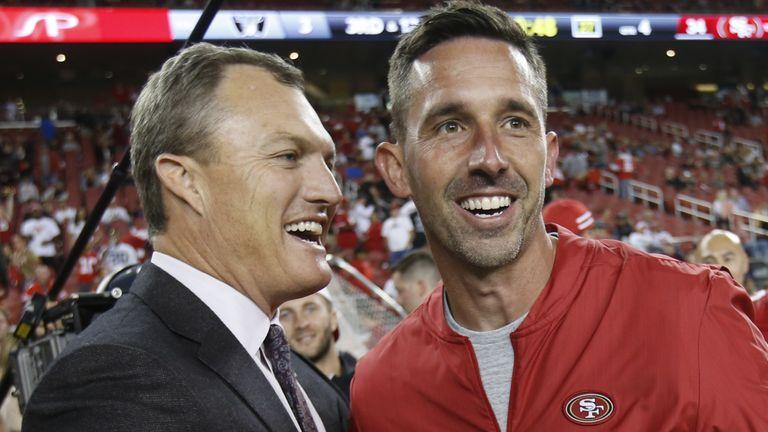 Lynch (left) has worked well alongside head coach Kyle Shanahan