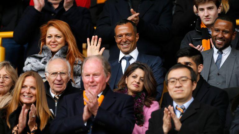 Agent Jorge Mendes attends a Wolves game back in April 2018
