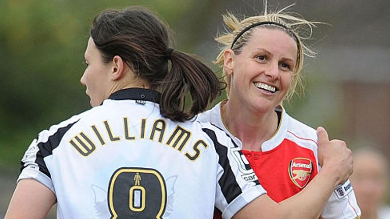 Kelly Smith spent half her career at Arsenal and the other half in the USA