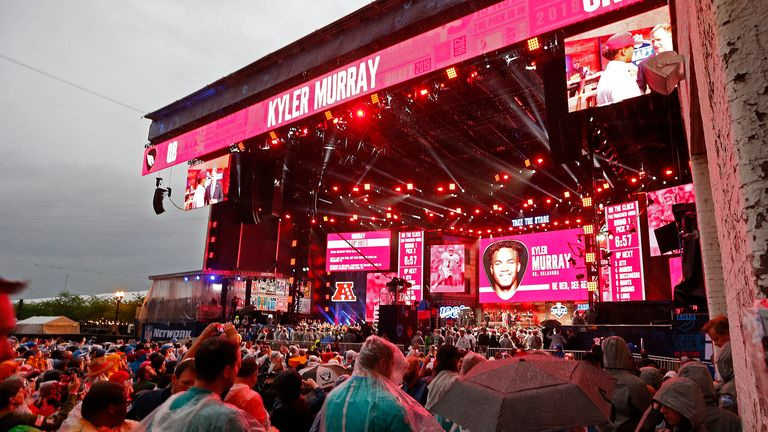 Arizona Cardinals picked Kyler Murray with the No 1 selection last year in front of a packed crowd - this year's draft will look very different