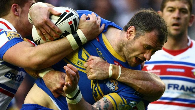 Jamie Peacock in action for Leeds Rhinos
