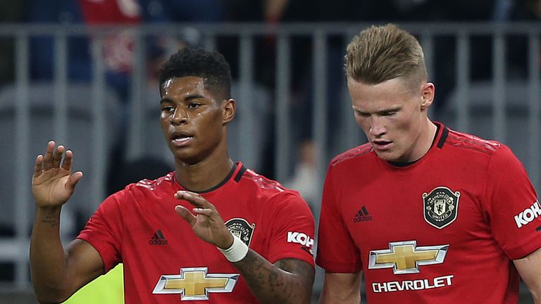 Marcus Rashford and Scott McTominay were given their debuts by Van Gaal and Mourinho respectively