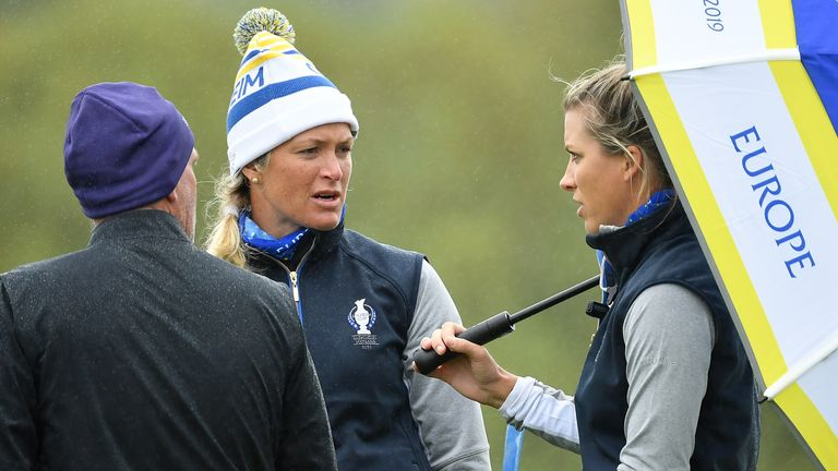 Reid was a vice-captain at the 2019 Solheim Cup, where Suzann Pettersen (left) claimed the winning point