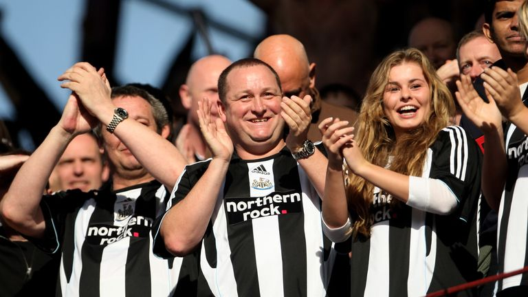 Mike Ashley in happier times during his reign as Newcastle owner