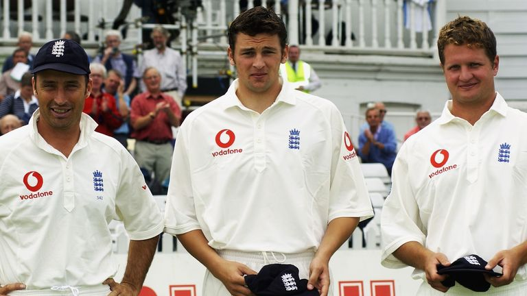 Steve Harmison and Rob Key were handed debut caps by Nasser Hussain against India in 2002