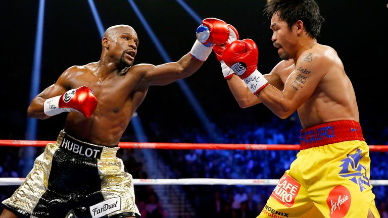 Pacquiao fought in the richest fight ever against Mayweather in 2015