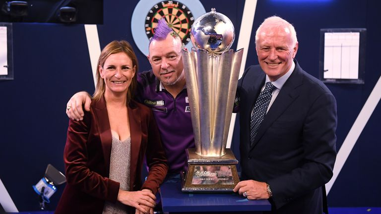 Barry Hearn with World Darts Champion Peter Wright
