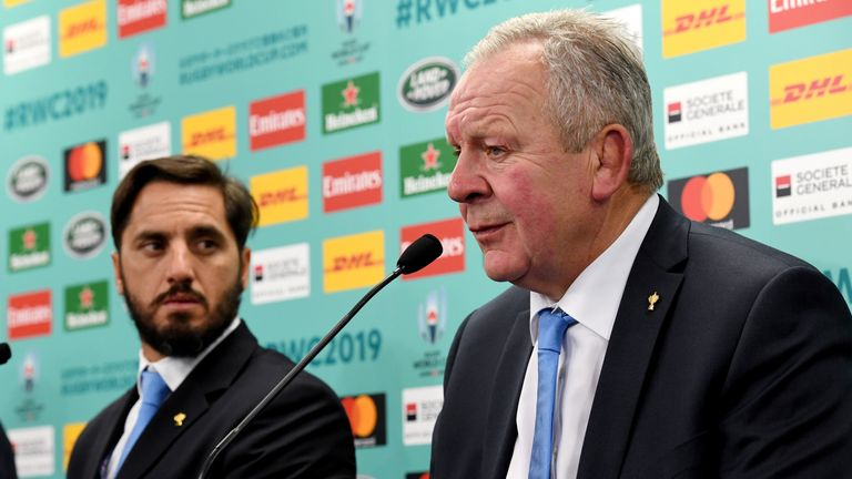Agustin Pichot (L) and Bill Beaumont (R) are vying to become World Rugby chairman for the next four years