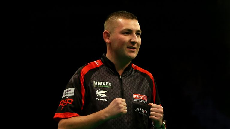 Nathan Aspinall is one of three Premier League players to progress to the last 32, along with Rob Cross and Glen Durrant