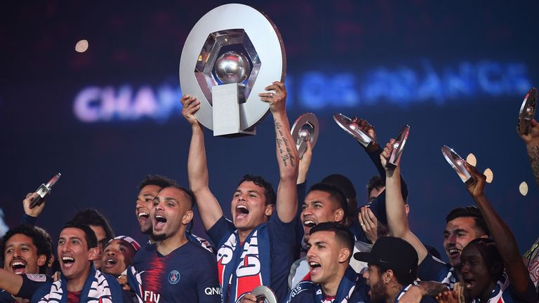 PSG were handed their seventh league title in eight years
