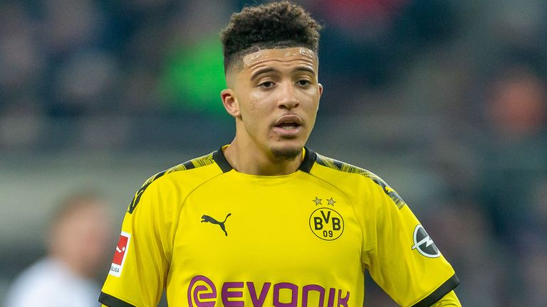 Jadon Sancho has been linked with a move back to the Premier League this summer
