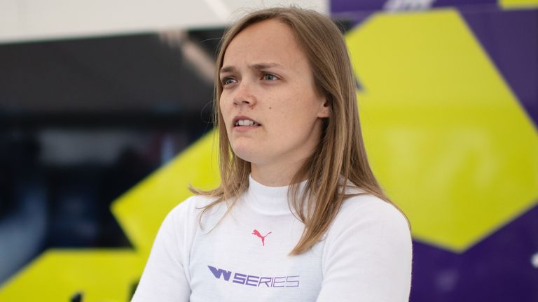 Sarah Moore's W Series ambitions are on pause during the motorsport shutdown
