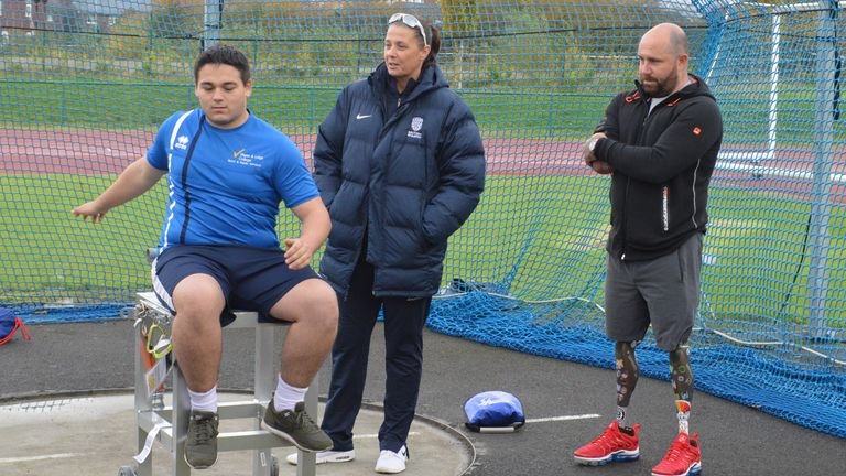 Holroyd now coaches para-athletes in her role as Talent Development co-ordinator for throws (image courtesy of Wigan & Leigh College)