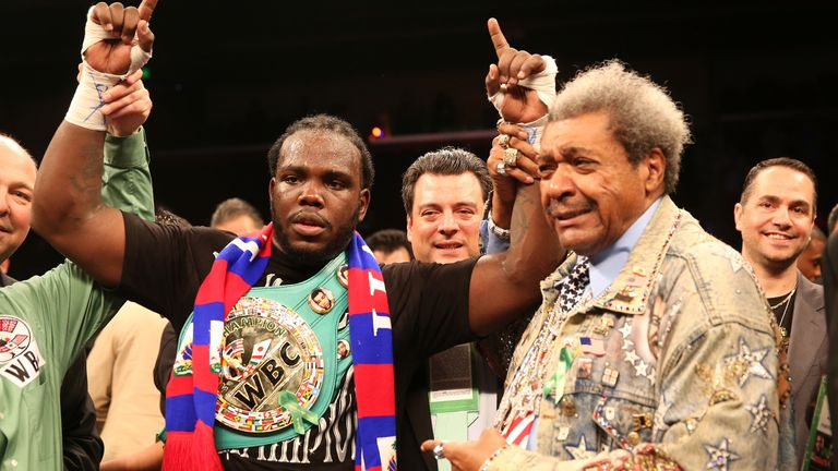 Don King celebrates unearthing another world heavyweight champion