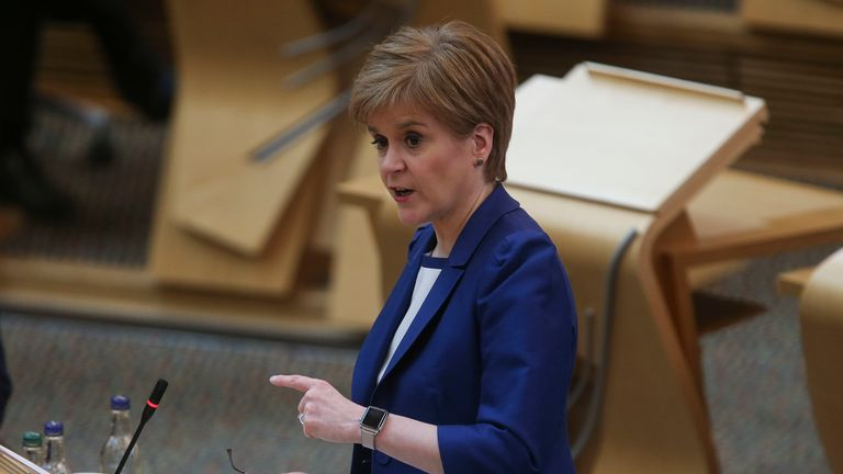 First Minister Nicola Sturgeon announced the plans in Scottish Parliament