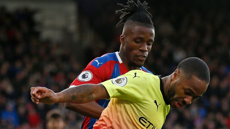 Wilfried Zaha and Raheem Sterling go head to head in the last 16