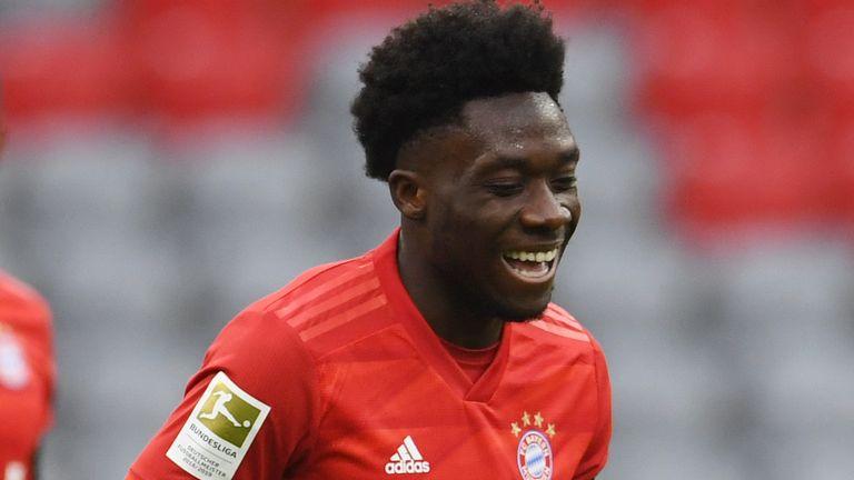 Alphonso Davies scored Bayern Munich's fourth goal against Frankfurt. He will be key against Dortmund