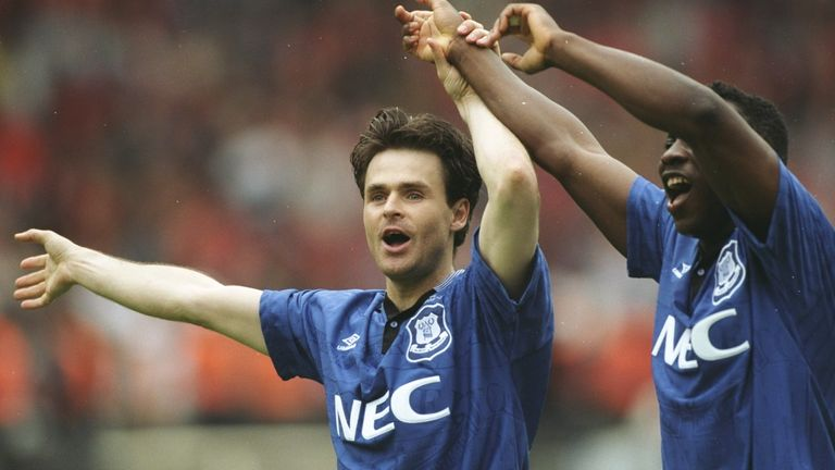 Anders Limpar and Amokachi were two of the stars of the Cup success