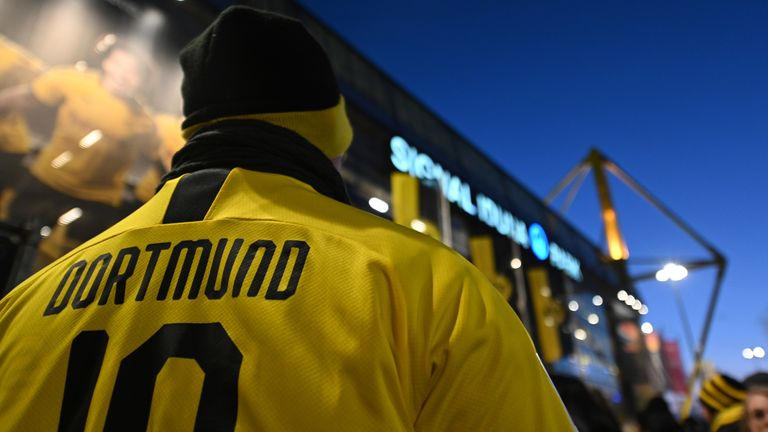 Borussia Dortmund's supporters have been told to stay away from their stadium as the Bundesliga resumes on Saturday