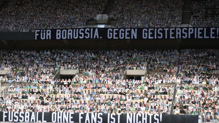 Borussia Monchengladbach's supporter cut-outs