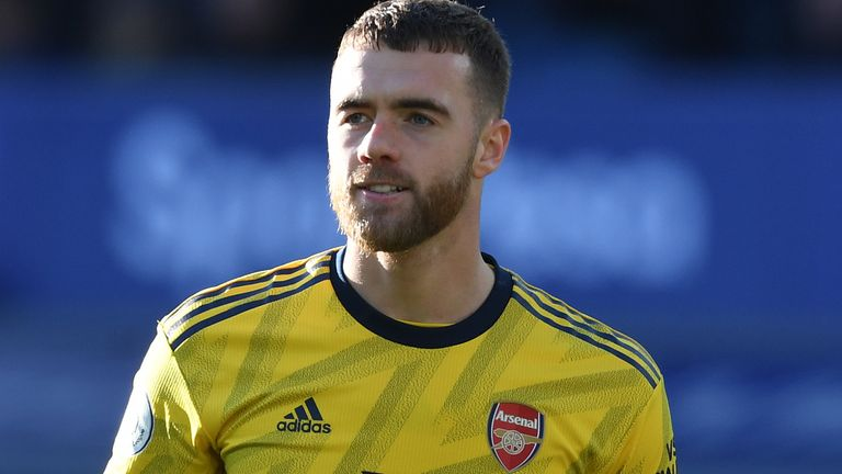 Arsenal defender Calum Chambers says there is no timescale on his return from injury