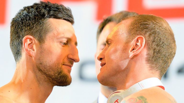 Carl Froch's rivalry with George Groves led to heated dispute before rematch