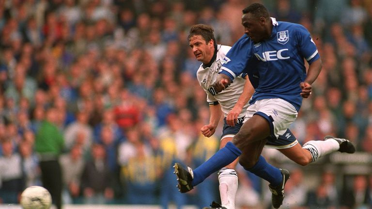 Daniel Amokachi substituted himself on at Elland Road - and scored twice