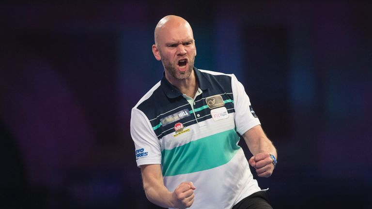 Daniel Larsson is flying the flag for Sweden in the PDC Home Tour