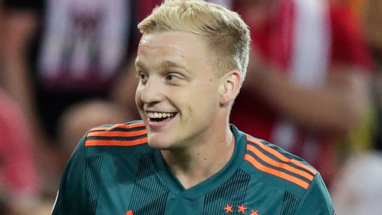 Donny van de Beek has been linked with a number of clubs since his breakthrough at Ajax