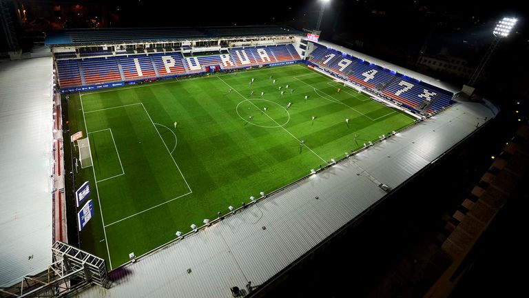 Eibar played Real Sociedad behind closed doors on March 10