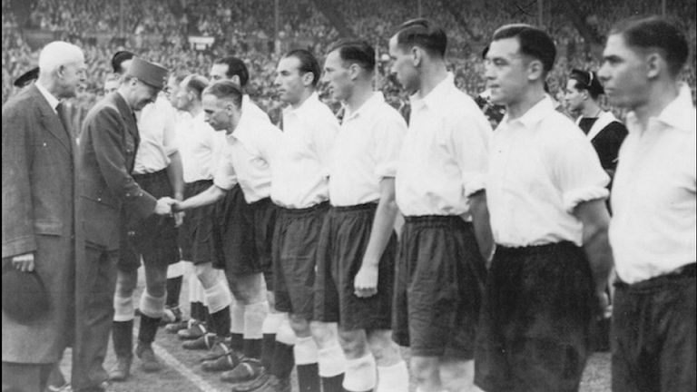 Soo playing at Wembley in May 1945 [Credit: The Soo family]