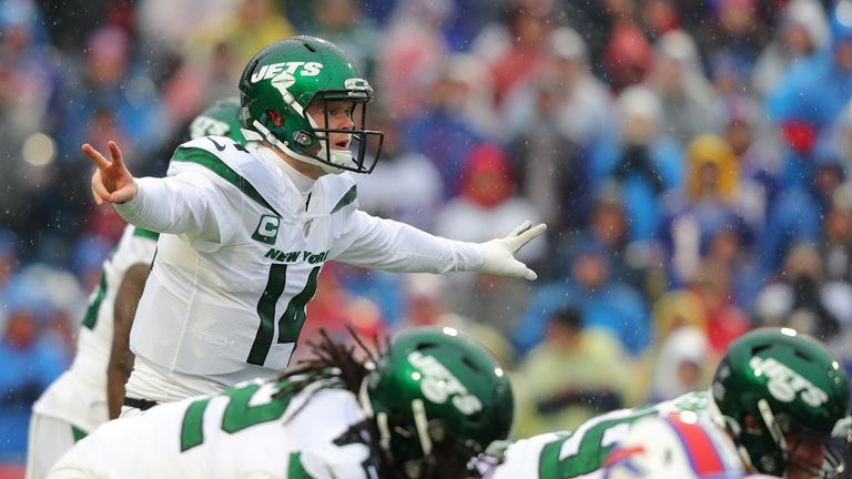 Sam Darnold threw for over 3,000 yards, 19 touchdowns and 13 interceptions in his second season as the Jets' starting quarterback
