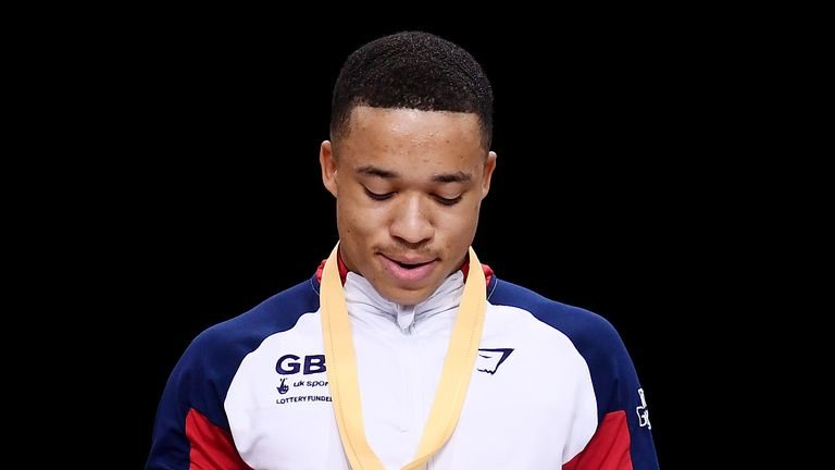 Fraser won gold on the parallel bars at the World Championships in Germany in 2019