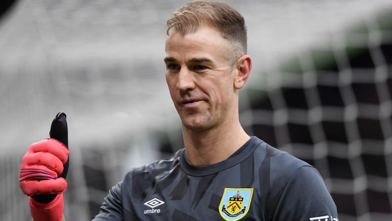 Joe Hart has been a peripheral figure under Sean Dyche at Burnley