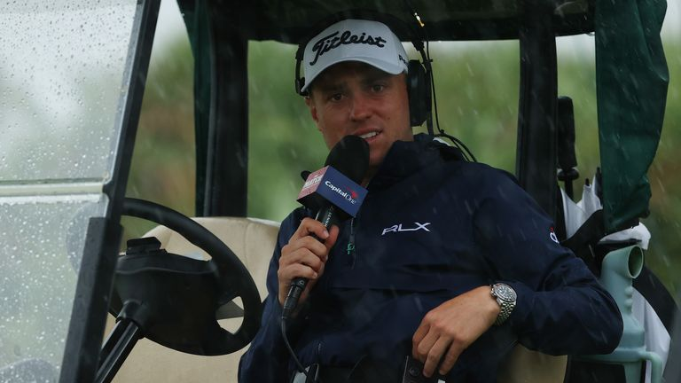 Justin Thomas made his debut as on-course commentator