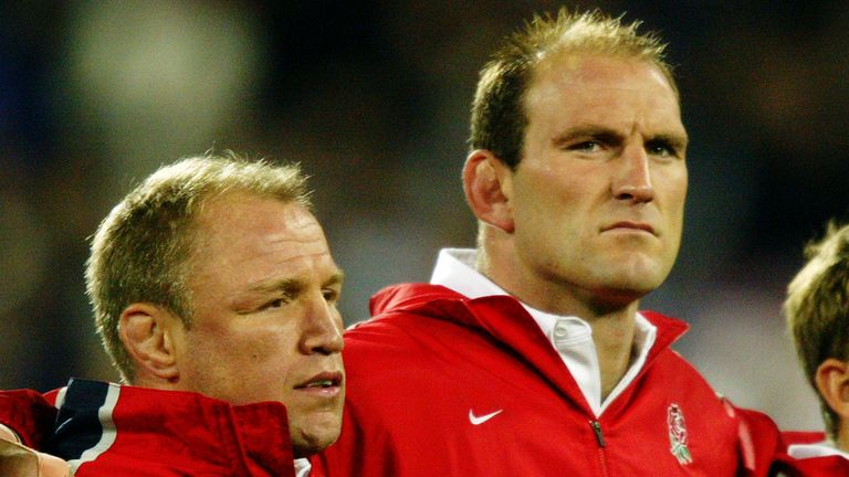Lawrence Dallaglio (R) and Neil Back would both be sinbinned for England