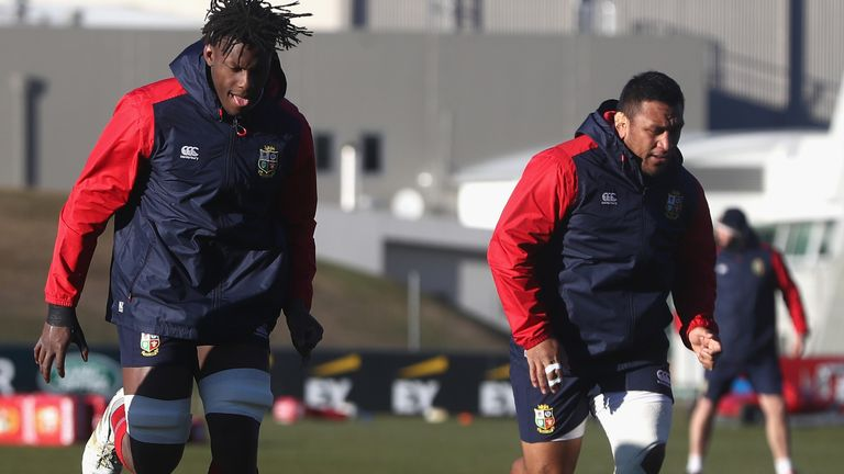 Maro Itoje (left) and Mako Vunipola were part of the Lions squad for the 2017 tour to New Zealand