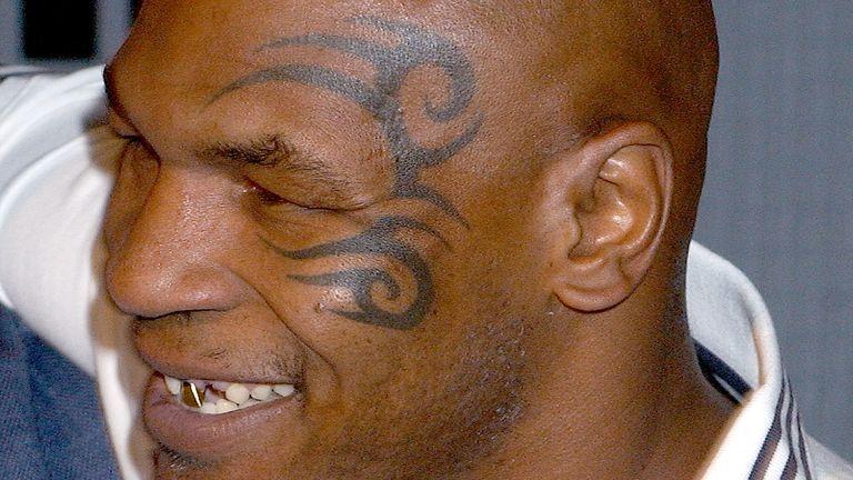 Tyson got his tribal tattoo in 2003